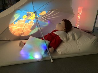 Sensory Room Projection White Umbrella