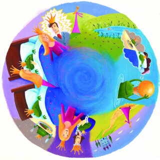 6 Inch Projector Wheel - Frog Prince Scene