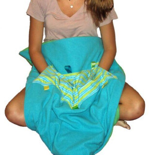 Soft Touch Weighted Blanket-Large Blue/Green Style: With Pocket