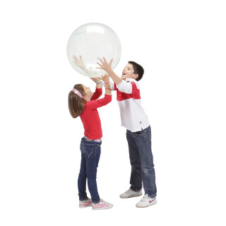 Transparent boll med bjällra