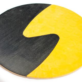 Taktil cirkel: Svart och gul