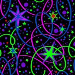 Ribbons & Stars UV Carpet