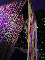 "Fibre Optic, Waterfall, 24"" panel, ceiling suspended"