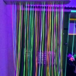 Ultra Violet, Fibre Optic Curtain, wall mount