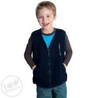 Weighted, Fleece Zippered Vest Options