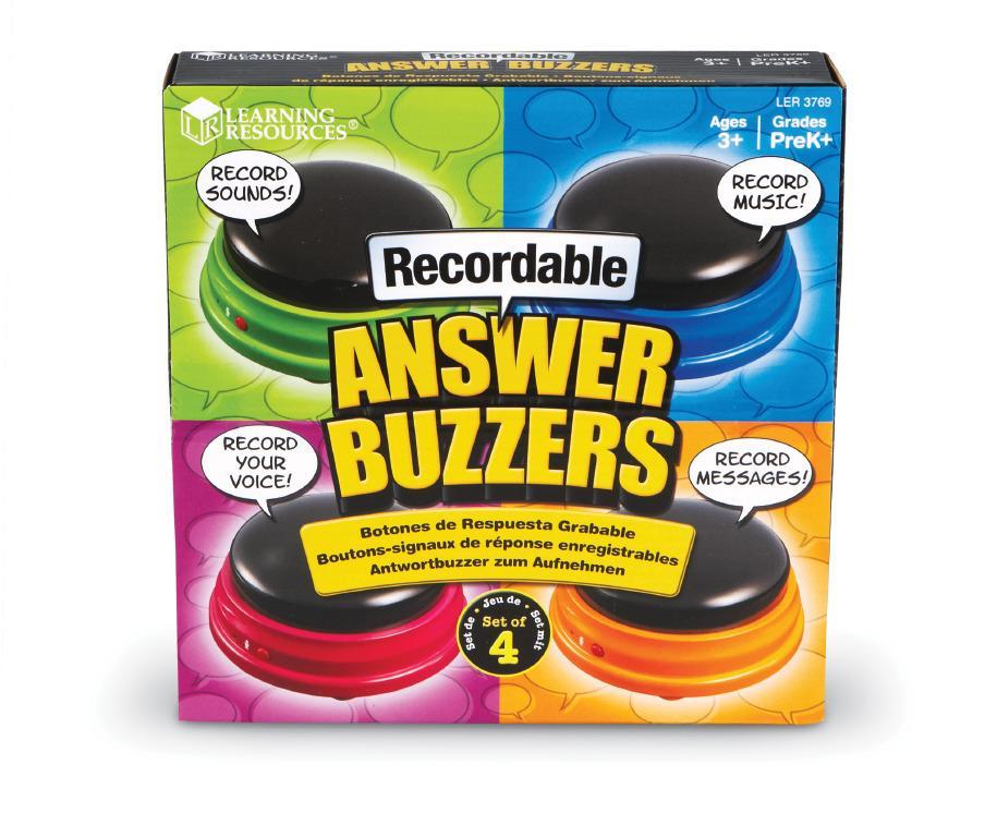 Inspelningsbara buzzers