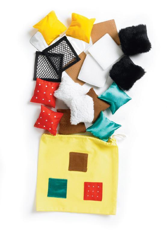 Tactile Play Bag - 20 Soft Squares - Tactile Development