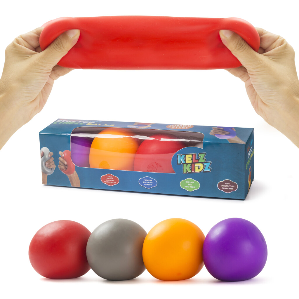 Pull & Stretch Stress Balls - Set of 4