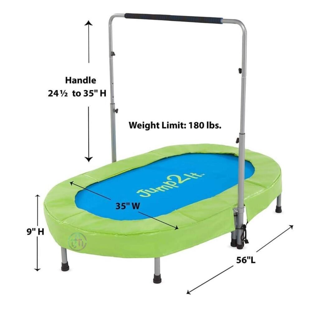 Jump2It Oval Trampoline