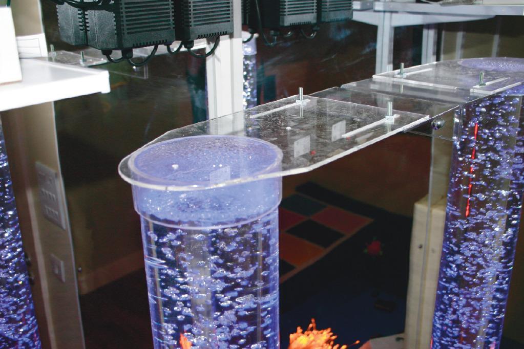Bubble Column Security Bracket - Emotional Sensory Toy