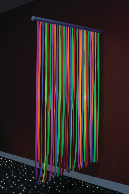 UV Waterfall - Wall-mounted Divider With Fluorescent Strips